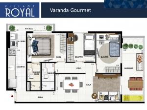 Village Royal - Varanda Gourmet
